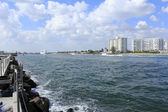 Entry to Port Everglades — Stock Photo