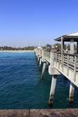 Pêche de Dania beach pier — Photo
