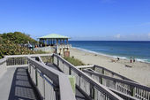 Boca Raton Beach Pavilion Walkway — Stock Photo