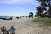 Deerfield Beach People Relaxing — Zdjęcie stockowe