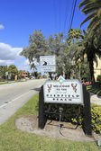 Welcome Sign to Deerfield Beach — Stock Photo