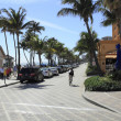 Parking Along Deerfield Beach — Stock Photo