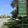 Stock Photo: Welcome Sign BocRaton, FL