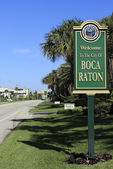 Welcome Sign Boca Raton, FL — Stock Photo