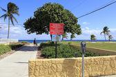 Entrance to Pompano Beach, Florida — Zdjęcie stockowe