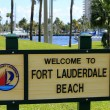Fort Lauderdale Beach Welcome Sign — Foto Stock