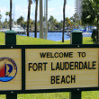 Fort Lauderdale Beach Welcome Sign — ストック写真