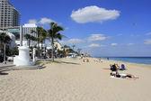 Bayshore drive pláž lidí — Stock fotografie