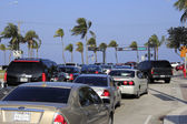 Busy Spring Break Traffic — Stock Photo