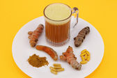 Different Ways to Consume Turmeric — Stock Photo