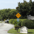 Stock Photo: Welcome Sign of Royal Palm Lakes Estates
