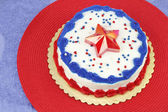 July 4th Decorated Cake — Stock Photo