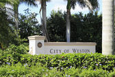 City of Weston, Florida Sign — Stock Photo