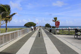Visserij pier in pompano beach — Stockfoto