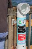 Monofilament Recycling Bin — Stock Photo