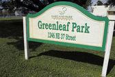 Cartel parque greenleaf — Foto de Stock