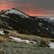 Dawn in Gorgany mountains - Stock Photo