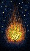 Burning bush. — Stock Photo