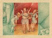 группа пьяный муз петь в комнате. — Стоковое фото
