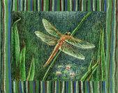 Dragonfly aan het meer. — Stockfoto