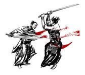 Samurai duel — Stock Photo