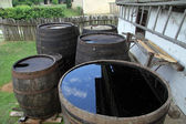 Barrels with water — Stock Photo