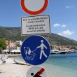 Signs on the beach — Stock Photo