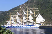 белая яхта — Стоковое фото