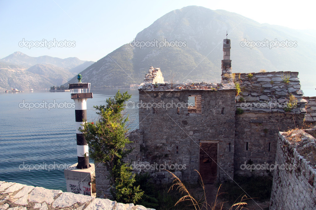 Old church on the sea shore in Boka Kotorska, montenegro — Stock Photo #12509718