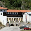 Car park and monastery - Lizenzfreies Foto