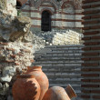 Stock Photo: Vases and ruins