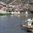 Boat in Amasya — Stock Photo