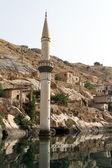 Vesnice a minaret — Stock fotografie