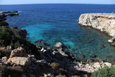 Mediterranean coast in Cyprus — Stock Photo
