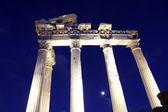 ναός απόλλωνα το βράδυ — Φωτογραφία Αρχείου