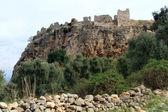 在岩石上的堡垒 — 图库照片