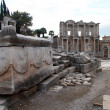 Marble street in Ephesus - Stock Photo