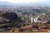 автомобильных дорог и зданий в городе измир — Стоковое фото