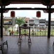 Balcony in buddhist temple — Stock Photo