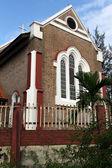 Brick church — Stock Photo