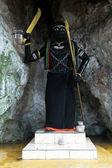 Schwarze statue — Stockfoto