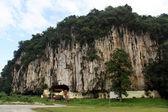 岩石和寺 — 图库照片