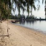 Sand beach in Ko Phangan — Stock Photo