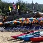 Kayaks on the beach — Stock Photo #18828819