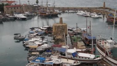 Marina in Girne — Stock Video