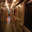 Inside train car — Stock Video