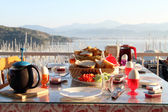 Turkish breakfast — Stock Photo