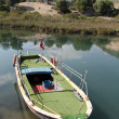 Stock Photo: Green boat