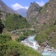 Stock Photo: Road and river in Nepal
