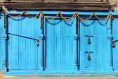 Blue doors — Stock Photo